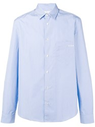 Golden Goose Deluxe Brand Classic Striped Shirt Blue