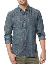 Buffalo David Bitton Long Sleeve Denim Shirt Indigo