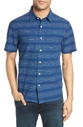 Jack Spade Men's Trim Fit Dobby Stripe Sport Shirt