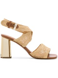 Robert Clergerie Woven Sandals Nude And Neutrals
