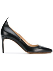 Francesco Russo Mid Heel Pumps Black