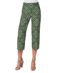 Akris Punto Madison Cropped Geometric Print Pants Multi