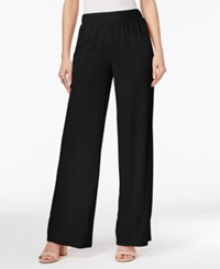 Inc International Concepts Petite Wide Leg Soft Pants Only At Macy's Deep Black