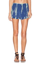 Gypsy 05 Ruffle Drawstring Short Blue