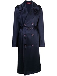 Sies Marjan Sigourney Double Breasted Trench Coat Blue