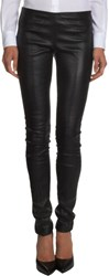 Saint Laurent Leather Leggings Black