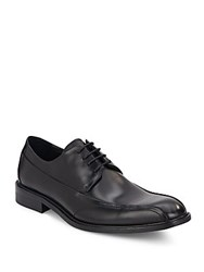 Kenneth Cole Seamed Leather Derby Shoes Black