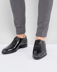 Hugo Appeal Lace Up Leather Oxford Shoes In Black