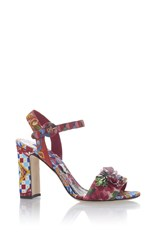 Dolce And Gabbana Printed Sandals Red Blue White