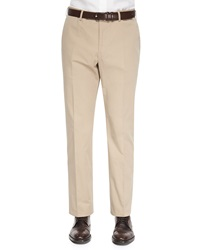Incotex Straight Leg Cotton Trousers Khaki