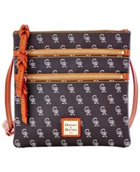 Dooney And Bourke Colorado Rockies Mlb Triple Zip Crossbody Bag Black