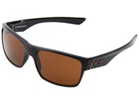 Oakley Two Face Polished Black Dark Bronze Sport Sunglasses