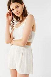 Out From Under Lana Eyelet Short White