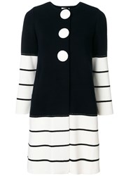 Charlott Striped Knit Coat Blue
