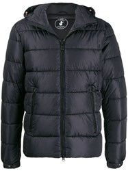 Save The Duck Hooded Padded Jacket Black