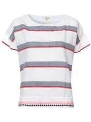 Lemlem Striped T Shirt Grey