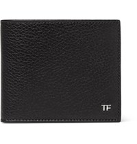 Tom Ford Full Grain Leather Billfold Wallet Black