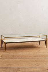 Anthropologie Silhouette Display Coffee Table Cream