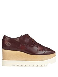 Stella Mccartney Elyse Faux Leather Platform Shoes Burgundy