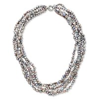 East Fresh Water Pearl Necklace Multi Coloured Multi Coloured