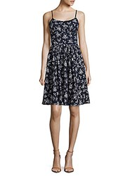 Maggy London Cotton Floral Petite Dress Blue