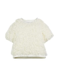 Milly Minis Sparkle Knit Confetti Popover Ivory