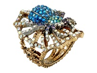 Betsey Johnson Spider Lux Ring Crystal Ring Gray