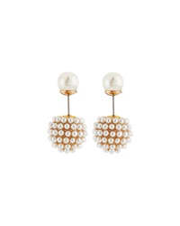 Kenneth Jay Lane Double Sided Pearly Earrings