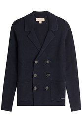 Burberry London Wool Cardigan With Cashmere Blue