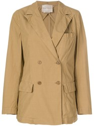 Erika Cavallini Ernest Double Breasted Jacket Brown