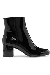 Gianvito Rossi Margaux 65 Patent Leather Ankle Boots Black