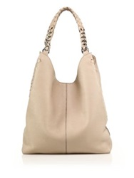 Roberto Cavalli Whipstiched Leather Tote Desert Sand