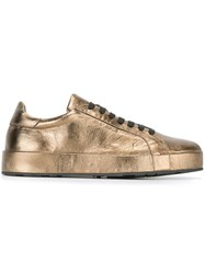 Jil Sander Classic Lace Up Sneakers Metallic