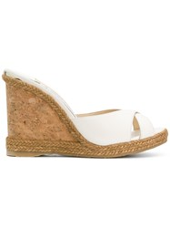 Jimmy Choo Almer 105 Wedges Nude And Neutrals