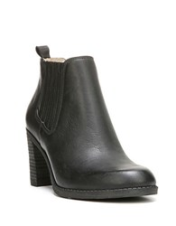 Dr. Scholl's London Leather Ankle Boots Black