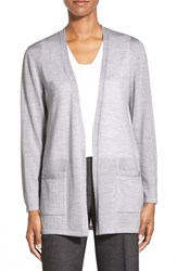 Women's Classiques Entier Open Merino Wool Cardigan Grey Clay Heather
