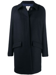 Semicouture Single Breasted Overcoat Blue