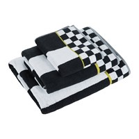 Mackenzie Childs Courtly Stripe Towel Black White Black And White