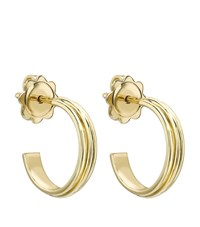 Theo Fennell Gold Whip Small Hoop Earrings Female