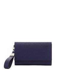 Trina Turk Private Resort Clutch Aubergine