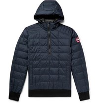 Canada Goose Wilmington Quilted Nylon Down Hooded Jacket Navy