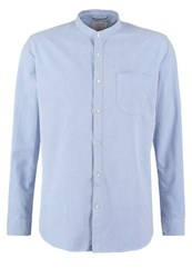 Knowledge Cotton Apparel Slim Fit Shirt Mid Blue Light Blue