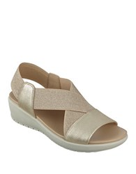 Easy Spirit Wiley Wedge Sandals Gold