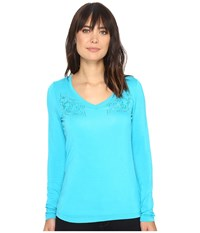Ariat Kass Top Indie Turquoise Women's Long Sleeve Pullover Blue