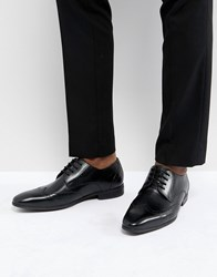 Pier One Leather Brogues In Black