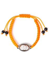 Amedeo Snake Skull Cameo Bracelet Yellow And Orange