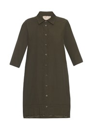 By Walid Nat Vintage Cotton Poplin Shirtdress Khaki