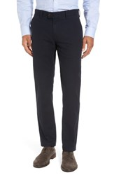 Brax Men's Big And Tall Texture Stretch Cotton Trousers Navy