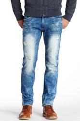 X Ray Distressed Straight Leg Jean Blue