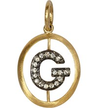 Annoushka Alphabet 18 Ct Yellow Gold And Pave Diamond Pendant G